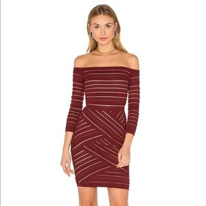 Bailey 44 Darcy BodyCon Garnet Dress in Burgundy